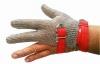 Перчатка кольчужная трехпалая с пластиковым манжетом  XXS(коричневый)