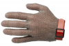 Перчатка кольчужная пятипалая с пластиковым манжетом XXS(коричневый)